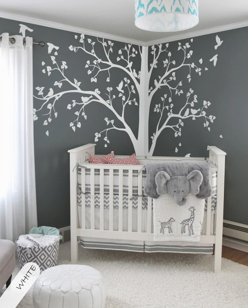 White tree wall decals