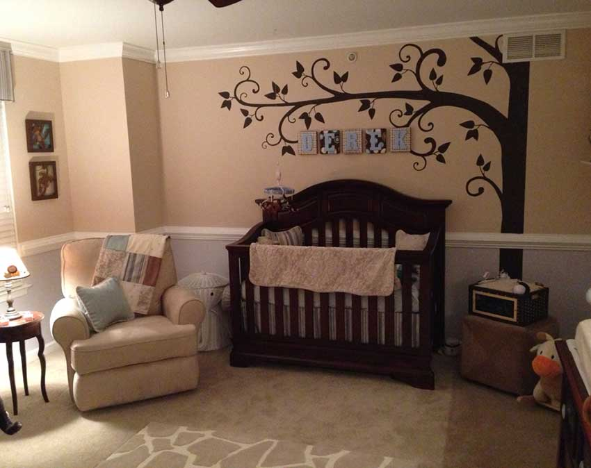 Large Corner Tree Baby Room Decor Wallconsiliawallconsilia