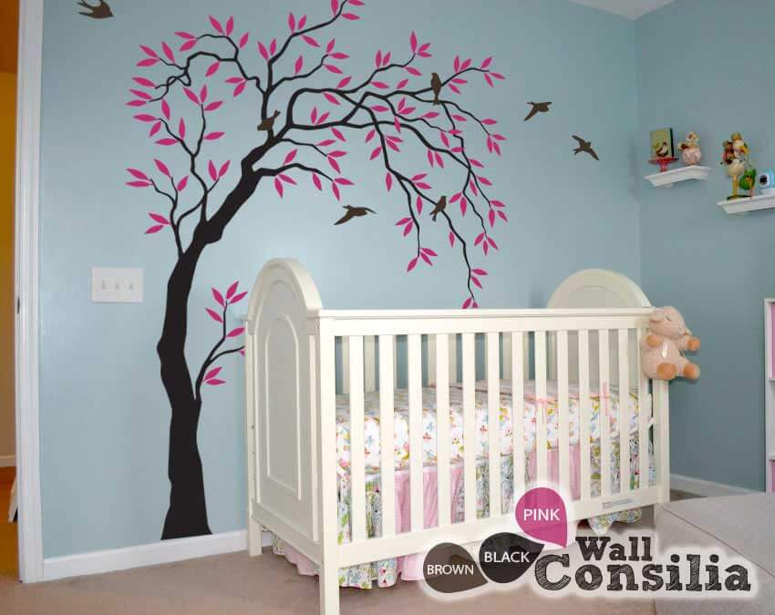 Rustic Wall Tree Decoration For Nursery