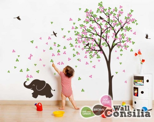 elephant-tree-wall-decal