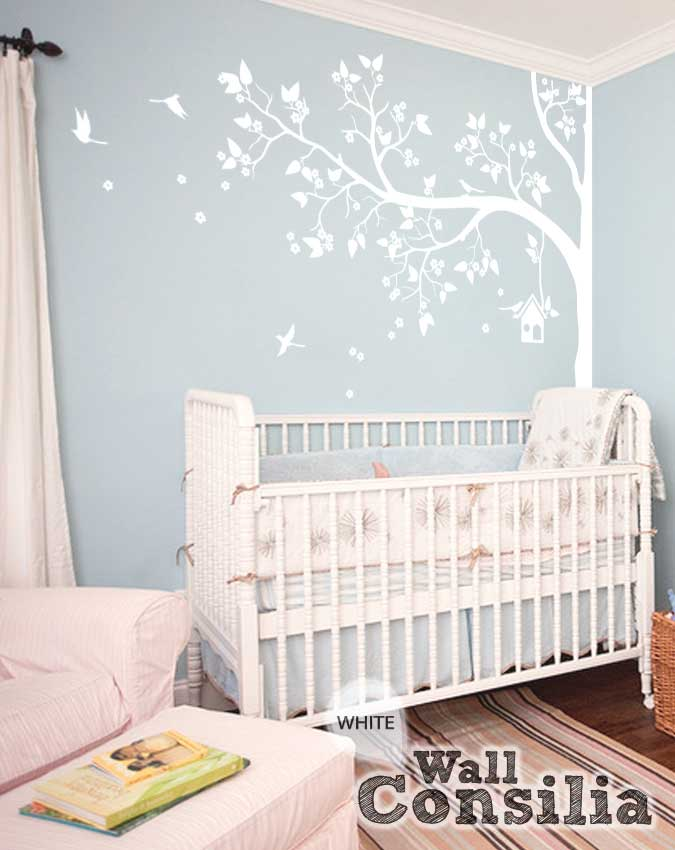 Tree wall decals for nursery tree wall decals for kids for Wall decals kids room