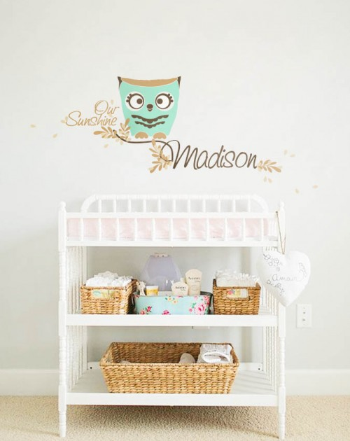 Nursery wall monograms