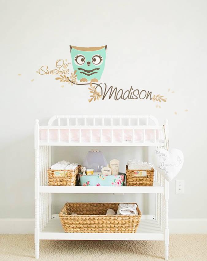 Nursery wall monograms