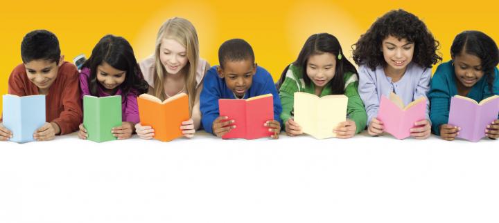 Kids reading a books