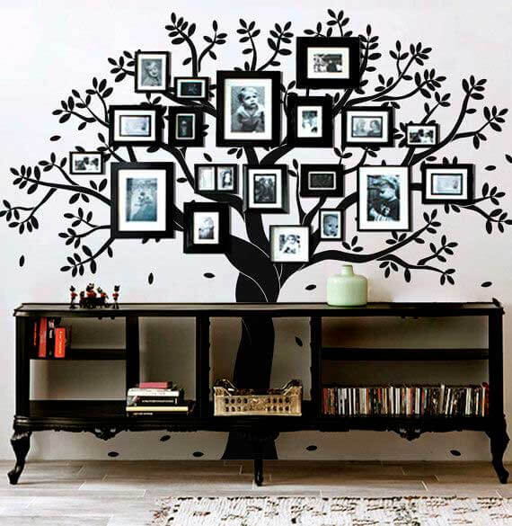 Baby room wall decals buy wall decals for kids online for Black tree wall mural