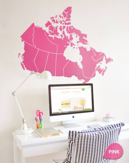 Pink Canada Map decal