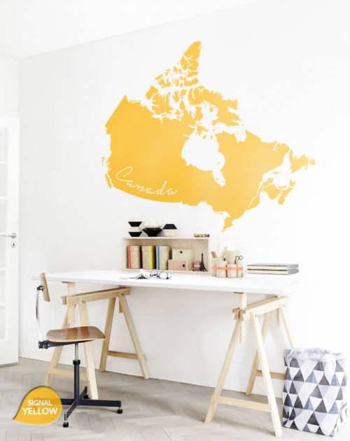 Yellow Giant Canada map Wall Sticker