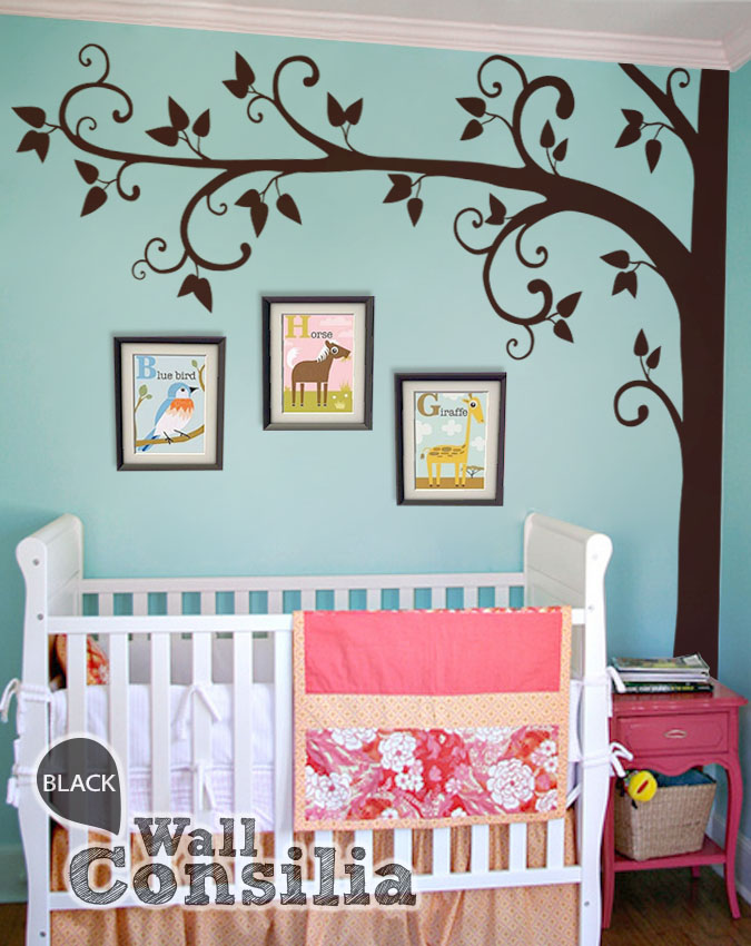 Swirly nursery corner tree