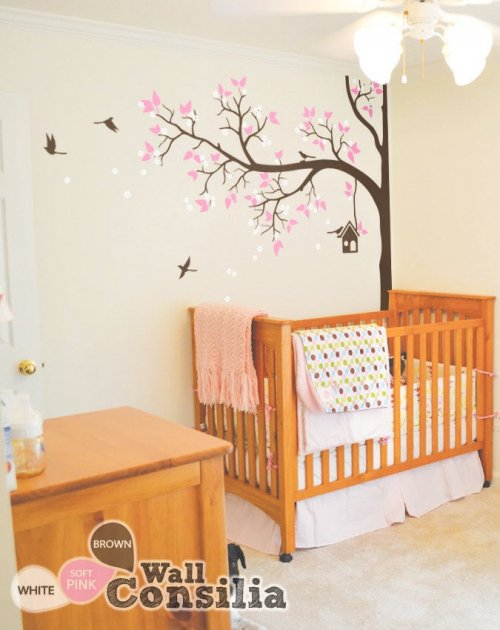 Bird tree for baby room