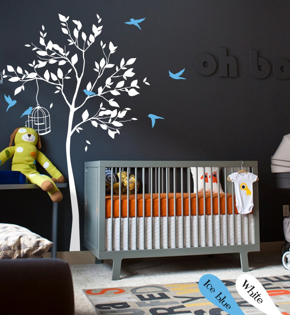 Nursery Tree Wall Decoration Baby Room Tree Wall Decal Newborn Wall Decor