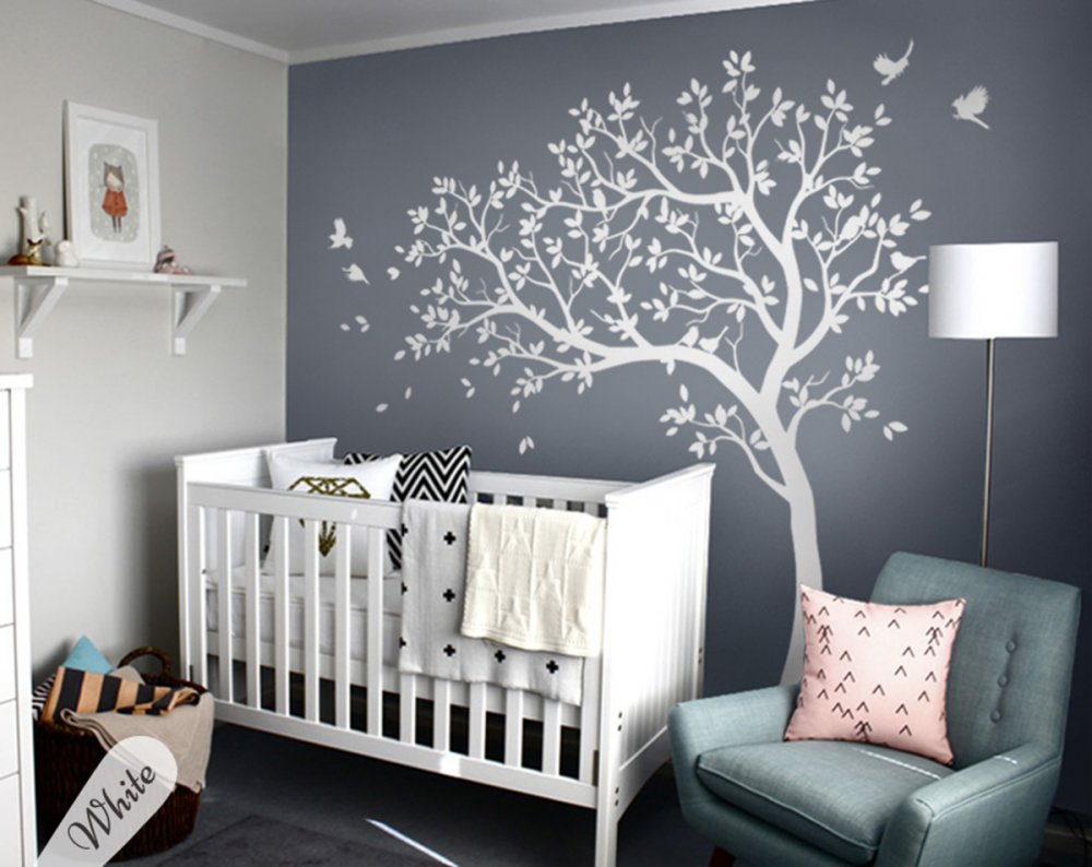 All White Tree Decal
